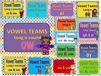 Vowel Teams Mega Bundle Power Points and Printables