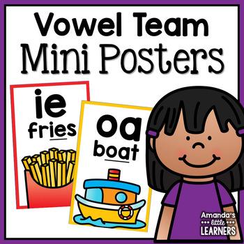 Vowel Teams Mini Posters or Flashcards