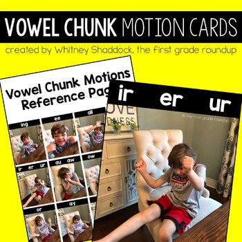 Vowel Teams Motion Photo Cards