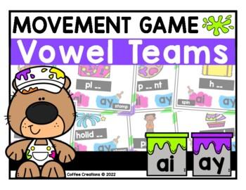 Vowel Teams Movement Interactive Game - ai and ay