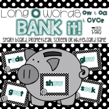 Vowel Teams OA, OW, & Long O CVCe Bank It~ Projectable Game