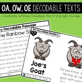 Vowel Teams OA OW OE Decodable Readers and Passages