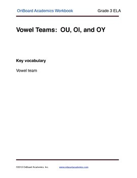 Vowel Teams OU OI OY