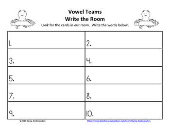 Vowel Teams Ocean Friends Write the Room