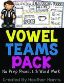 Vowel Teams Pack: No Prep Word Work