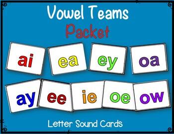 Vowel Teams Packet:  Letters, Pictures, Words & Worksheets