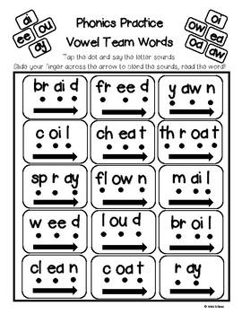 Vowel Teams - Phonics Practice