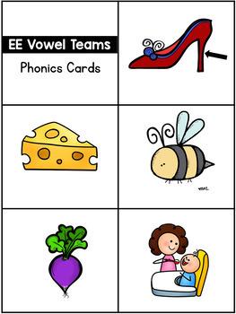 Vowel Teams Pocket Charts or Flip Cards