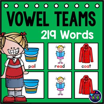 Vowel Teams Activities - Vowel Teams Pocket Charts