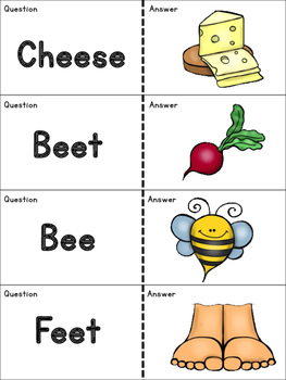 Vowel Teams Quiz Quiz Trade Cards