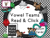 Vowel Teams Read and Click-- Boom Task Cards