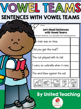 Vowel Teams: Reading Sentences Bundle