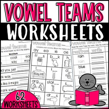 Vowel Teams Resources: Puzzles, Stories, Worksheets, Cut and Paste, etc.