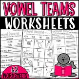 Vowel Teams Worksheets: Sorts, Cloze Sentences, and more!