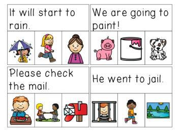 Vowel Teams Sentences Read & Clip Cards