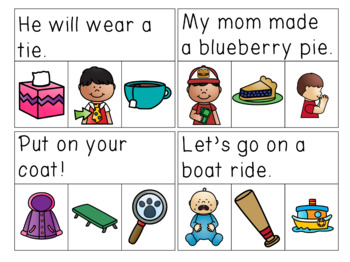 Vowel Teams Sentences Read & Clip Cards