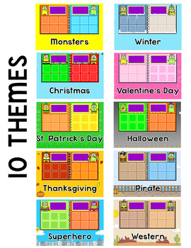 Vowel Teams Sorting Game for Tablets and Whiteboards - 10 Seasonal Themes