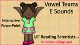 Vowel Teams - Sounds of E - (Orton Gillingham) Interactive PowerPoint