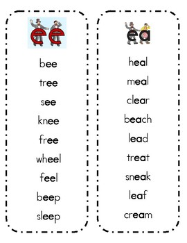 Vowel Teams Spin and Read