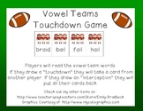 Vowel Teams Super Bowl Touchdown Game