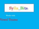 MAP Prep NWEA Reading Vowel Teams SyllaBits Fluency Building Syllable Slideshow
