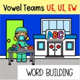 Vowel Teams UE/UI/EW Preloaded Seesaw Digital Word Building