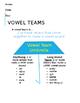 Vowel Teams Umbrella