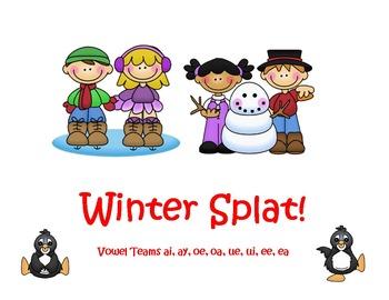 Vowel Teams Winter Splat!  Game