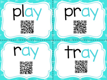 Vowel Teams With QR Codes- AI and AY