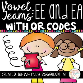 Vowel Teams With QR Codes- EE and EA