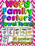 Vowel Teams Word Families Posters (Vowel Pairs)