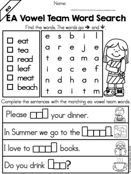 Vowel Teams: Word Search Bundle