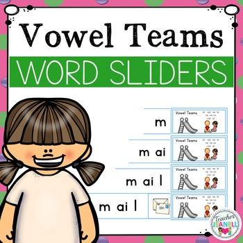 Vowel Teams Word Sliders