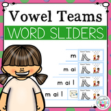Vowel Team Segmenting and Blending Cards - Word Sliders