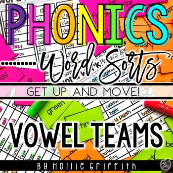 Vowel Teams Word Sorts {Get Up and MOVE!}
