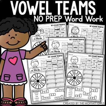 Vowel Teams Word Work