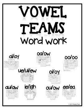 Vowel Teams Word Work {Bundle} - Phonics Interactive Notebook