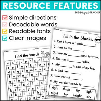 NO PREP Vowel Teams Worksheets Phonics Word Work BUNDLE by The ...