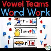 Vowel Team Word Work Activities for Phonics Centers for Lo