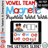 Vowel Teams Word Work - Long Vowel Pair Paperless Phonics