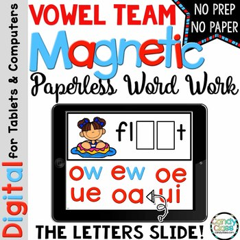 Vowel Teams Word Work for PowerPoint Use (Digital Long Vow