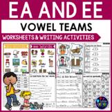Vowel Teams Worksheets - EE and EA Worksheets and Activities