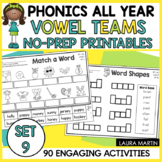 Long Vowel Teams Worksheets | No-Prep Vowel Teams Activiti
