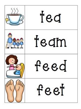 Vowel Teams Write the Room