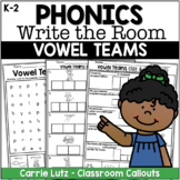 WRITE THE ROOM ~ Vowel Teams {With Fun Extension Activities}