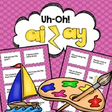 ai and ay Vowel Teams Uh-Oh Reading Fluency Practice Game