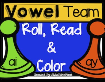Vowel Teams -ai and -ay Roll, Read and Color Freebie