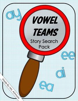 Vowel Teams ai, ay, ee, ea, Story Search Pack Printables