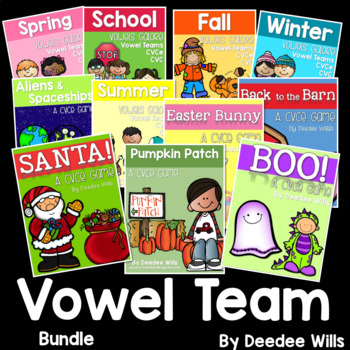 Vowel Teams and CVCe Mega Game BUNDLE