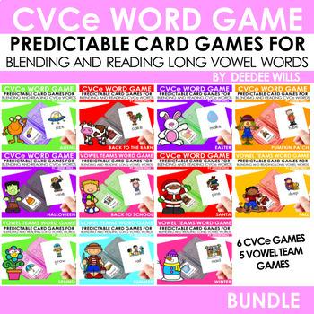 Vowel Teams and CVCe Mega Game BUNDLE